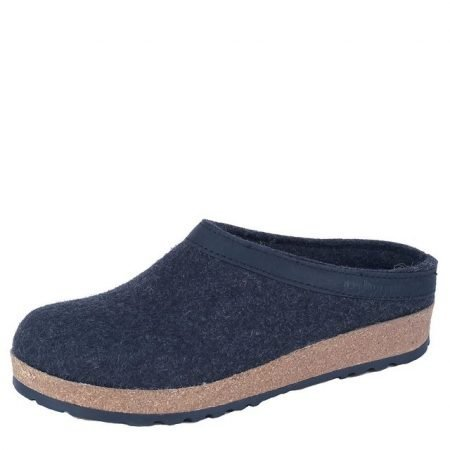 Grizzly Leather Trim Clog Charcoal