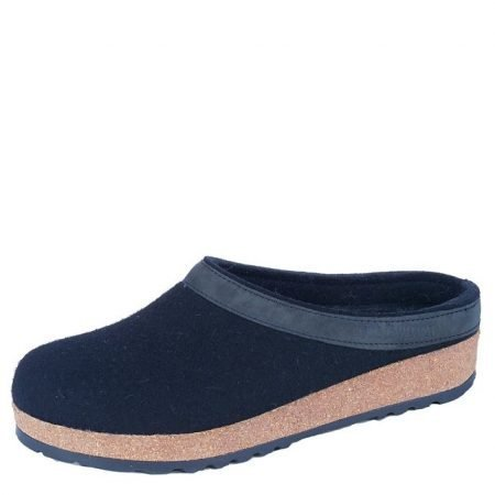 Grizzly Leather Trim Clog Black